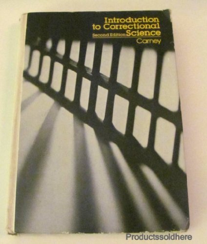 9780070100770: Introduction to Correctional Science