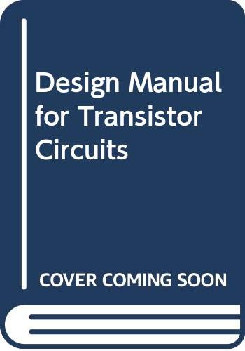 9780070101449: Design Manual for Transistor Circuits