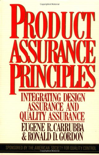 9780070101487: Product Assurance Principles: Integrating Design Assurance and Quality Assurance