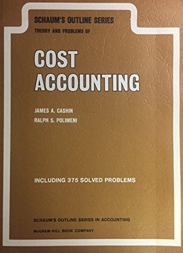 9780070102033: Cost Accounting: Pt. 1 (Schaum's Outline)