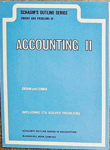 9780070102125: Schaum's Outline of Theory and Problems of Principles of Accounting: Pt. 2 (Schaum's Outline Series)