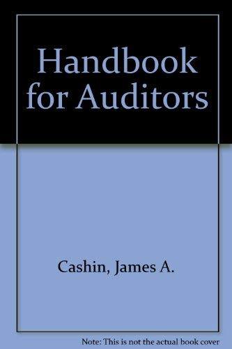 9780070102644: Handbook for Auditors