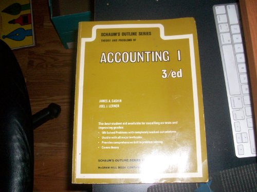 9780070103535: Schaum's Outline of Theory and Problems of Principles of Accounting: Pt. 1 (Schaum's outline series in accounting)