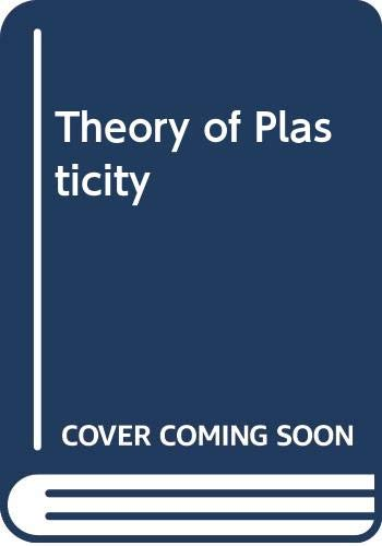 9780070103924: Theory of Plasticity