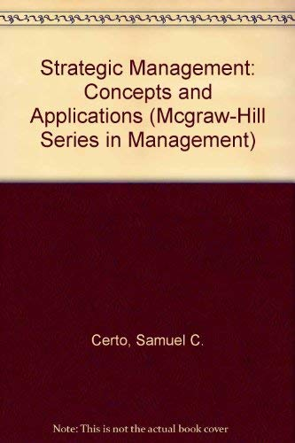 9780070104587: Strategic Management: Concepts and Applications (Mcgraw-Hill Series in Management)