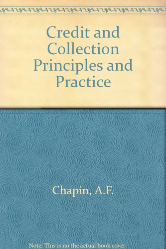 9780070105386: Credit and Collection Principles and Practice