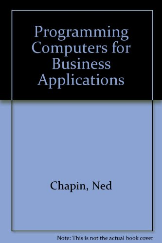 9780070105607: Programming Computers for Business Applications