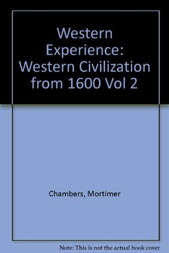 9780070106185: The Western Experience