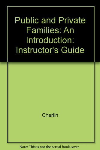 9780070106338: Public and Private Families: An Introduction: Instructor's Guide