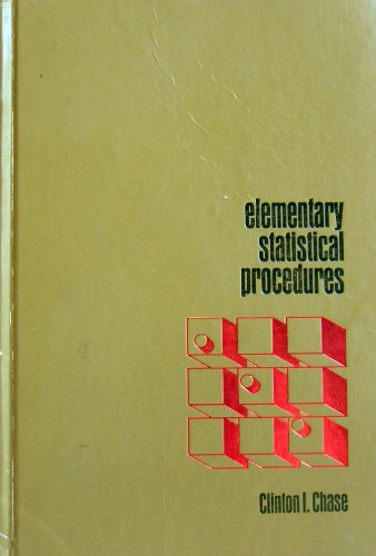 9780070106819: Elementary statistical procedures