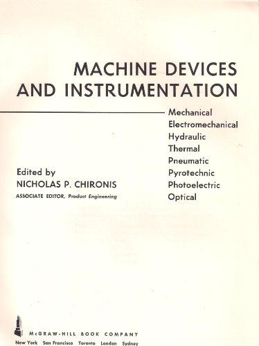 machine devices and instrumentation: chironis,nicholas p