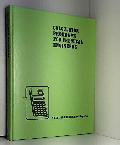 9780070107939: Calculator Programmes for Chemical Engineers: v. 1
