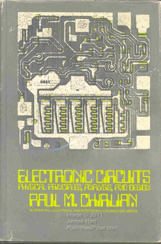 9780070107977: Electronic Circuits: Physical Principles, Analysis, and Design