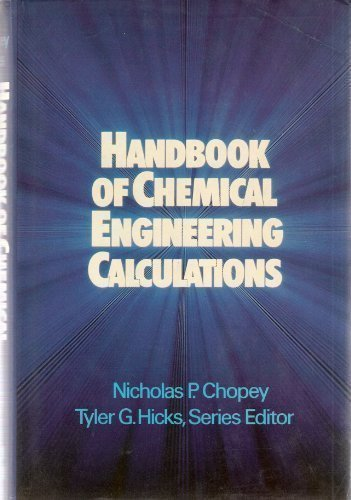 9780070108059: Handbook of Chemical Engineering Calculations