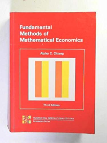 9780070108141: Fundamental Methods of Mathematical Economics: Instructor's Manual