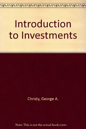 9780070108257: Introduction to investments (McGraw-Hill series in finance)