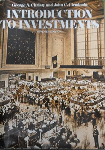 9780070108271: Introduction to Investments (McGraw-Hill series in finance)