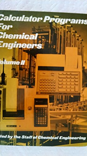 9780070108493: Calculator Programs for Chemical Engineers