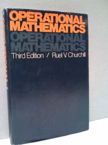 Operational Mathematics, 3rd Edition: Churchill, Ruel V.