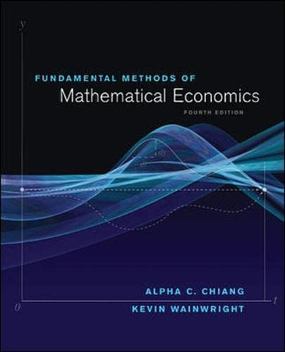 9780070109100: Fundamental Methods of Mathematical Economics