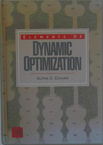 9780070109117: Elements of Dynamic Optimization