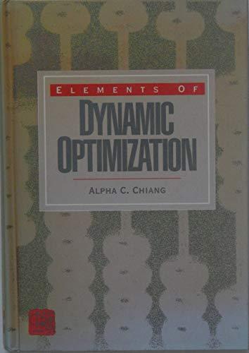 9780070109117: Elements of Dynamic Optimization