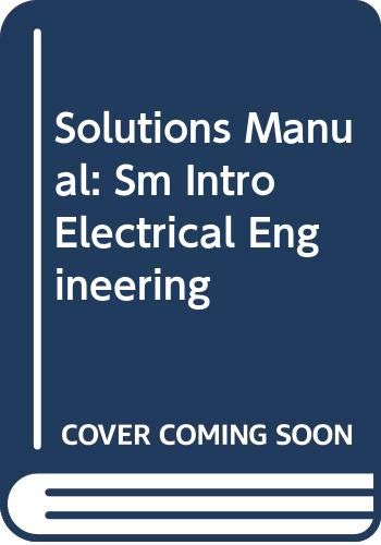 9780070113237: Solutions Manual: Sm Intro Electrical Engineering