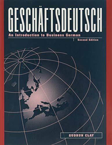 9780070113343: Geschaftsdeutsch: An Introduction to Business German