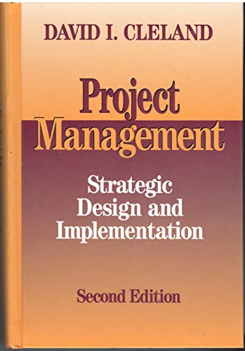 9780070113510: Project Management: Strategic Design and Implementation