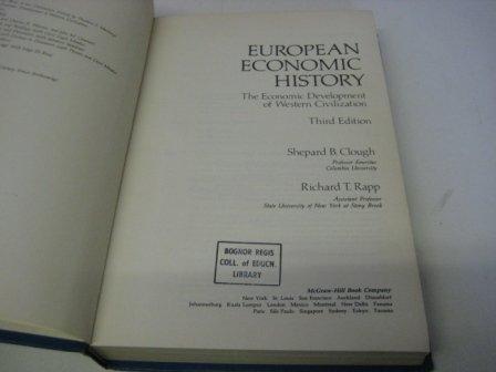 9780070113930: European Economic History