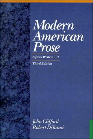 9780070113961: Modern American Prose: Fifteen Writers + 15