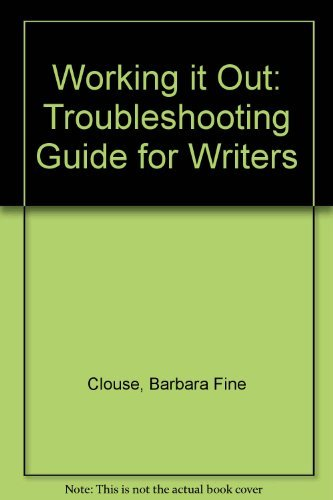 9780070114166: Working It Out: A Troubleshooting Guide for Writers