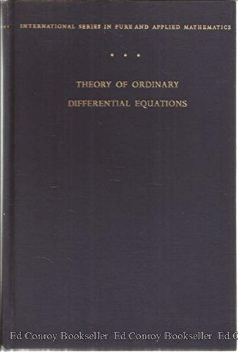 9780070115422: Theory of Ordinary Differential Equations (Pure & Applied Mathematics)