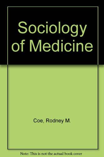 9780070115606: Sociology of Medicine