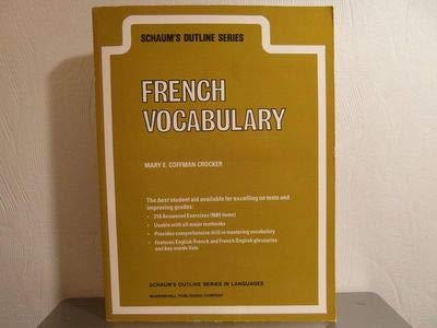 9780070115613: Schaum's Outline of French Vocabulary (Schaum's Outline Series)