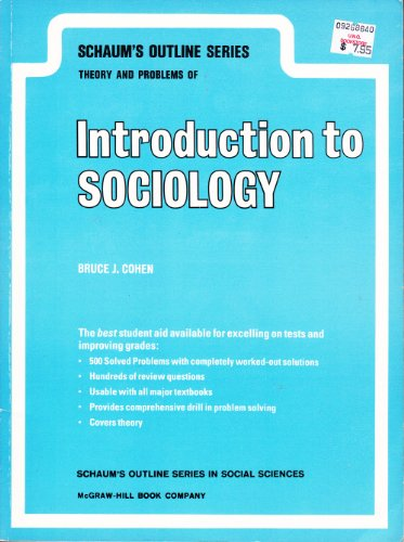 9780070115910: Introduction to Sociology (Schaum's Outline Series)