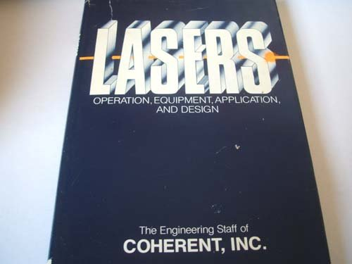 9780070115934: Lasers - Operation, Equipment, Application, and Design