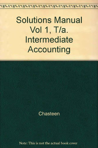 9780070119031: Solutions Manual Vol 1, T/a. Intermediate Accounting