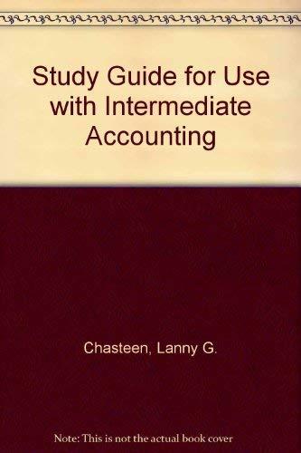9780070119598: Study Guide to accompany Intermediate Accounting