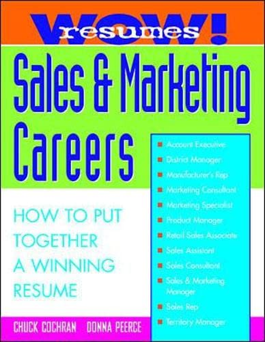 9780070120211: Wow! Resumes for Sales and Marketing Careers