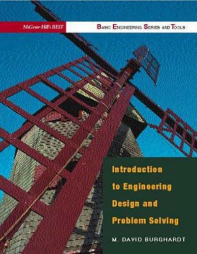9780070121881: Introduction to Engineering Design & Problem Solving (B.E.S.T. Series)