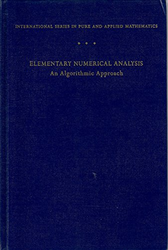 9780070124479: Elementary Numerical Analysis: An Algorithmic Approach