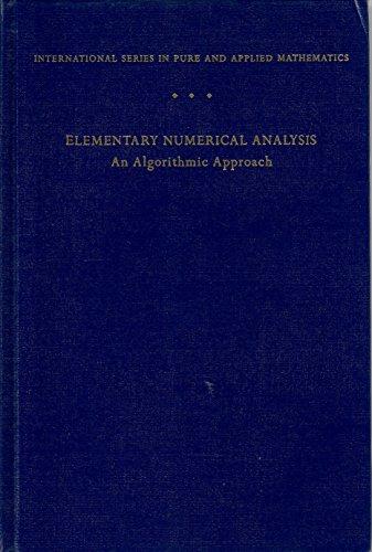 9780070124479: Elementary Numerical Analysis: An Algorithmic Approach
