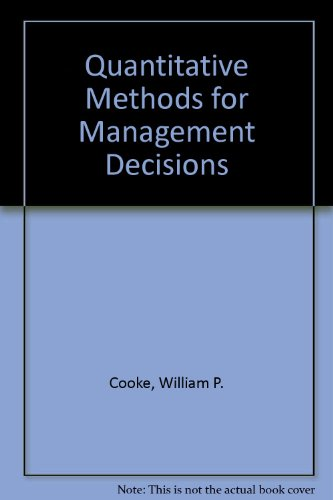 9780070125186: Quantitative Methods for Management Decisions