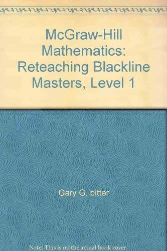 9780070126619: McGraw-Hill Mathematics: Reteaching Blackline Masters, Level 1