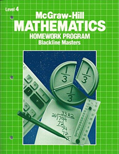 9780070129047: McGraw-Hill Mathematics Homework Program- Blackline Masters- Level 4