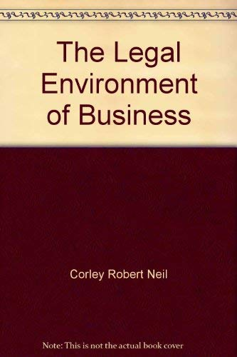 9780070131866: The legal environment of business