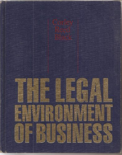 9780070131934: The Legal Environment of Business
