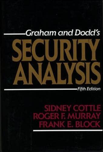 9780070132351: Security Analysis