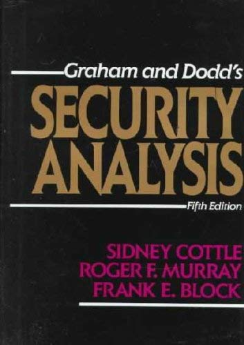 9780070132375: Graham and Dodd's Security Analysis